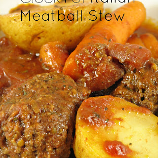 Crock-Pot Italian Meatball Stew.