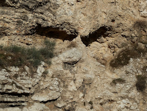 """Photo: Golgotha means """"the place of the skull"""". Although we don't know for certain that this is the exact place that Jesus was crucified, it does seem to fit the description."""