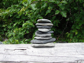 Photo: A cairn to mark my campsite.