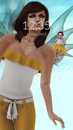 Fairies In Flight Wall Lock