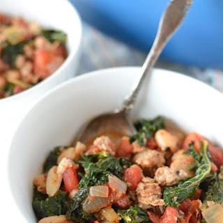 Italian Turkey Sausage, Kale, and White Bean Stew.