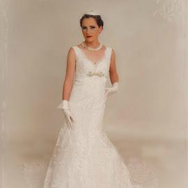Full length by Brenda Shoemake - Wedding Bride