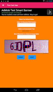 Pan Card Status - NDSL,UTI,Tax Refund,ITRV Status screenshot