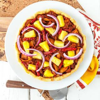 Hawaiian BBQ Jackfruit Pizza.