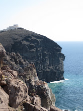 Photo: Santorini is famous for its high cliffs, and cliff-top villages.