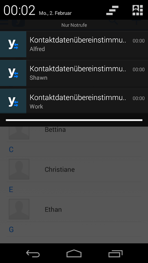 Yabbin - your contact app- screenshot