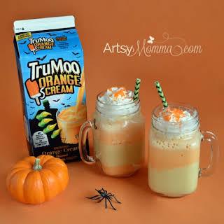 Candy Corn Inspired Shake Recipe #TruMooTreats.