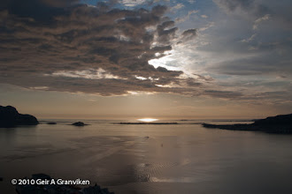 Photo: Evening sky over Giske, outside Ålesund