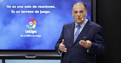 Javier Tebas presidente de la Liga Profesional.