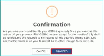 confirmation for gstr1
