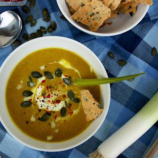 Pumpkin Leek Soup with Smoked Paprika