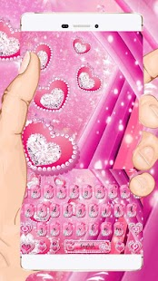 Sparkle Pink Keyboard Téma - náhled
