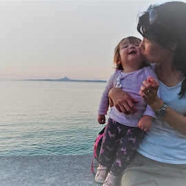 Tropical  by Chris Beadnell - People Family ( love, mother, toddler, japan, okinawa )