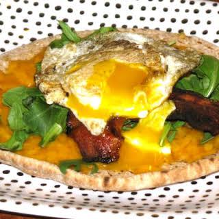 Bacon and Cheddar Healthy Breakfast Pita.