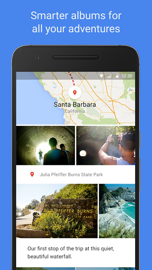 Screenshots of Google Photos for Android