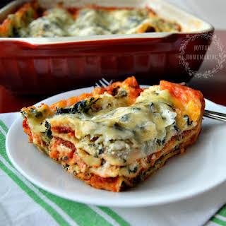 Delicious Meatless Spinach Lasagna.
