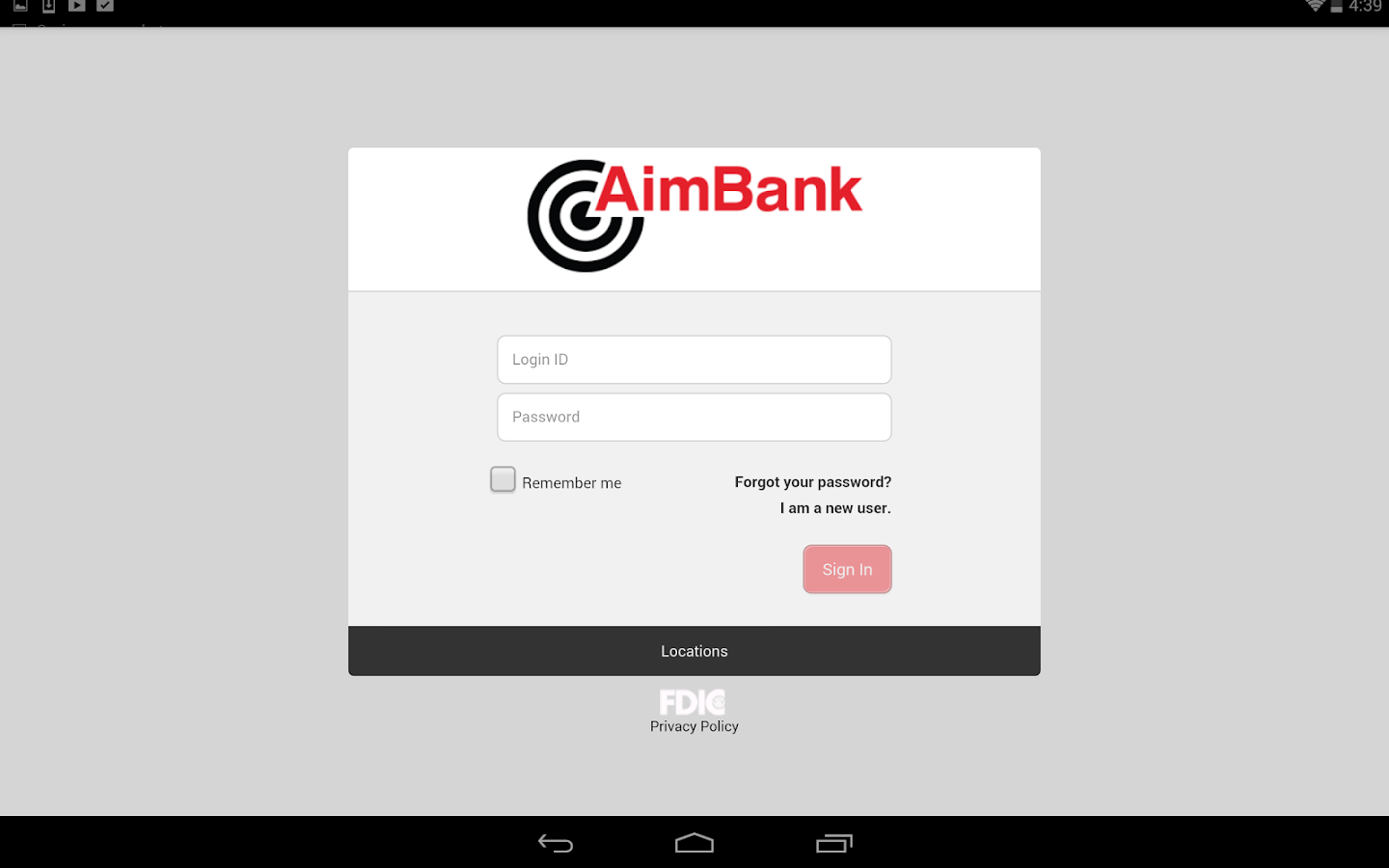 AimBank Mobile- screenshot