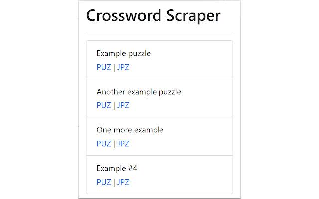 Crossword Scraper