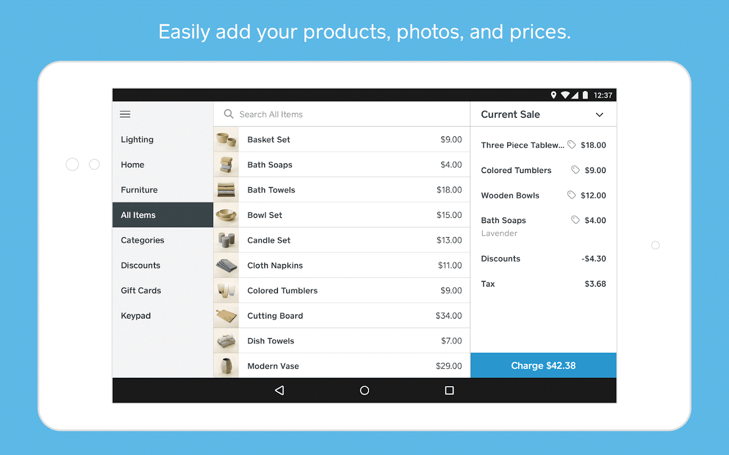 Square Point of Sale - POS- screenshot