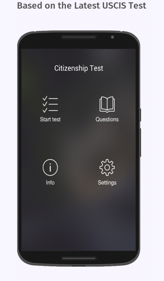 us citizenship test 2018 free app android apps on. Black Bedroom Furniture Sets. Home Design Ideas