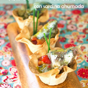 Grilled Vegetable And Herring Cups