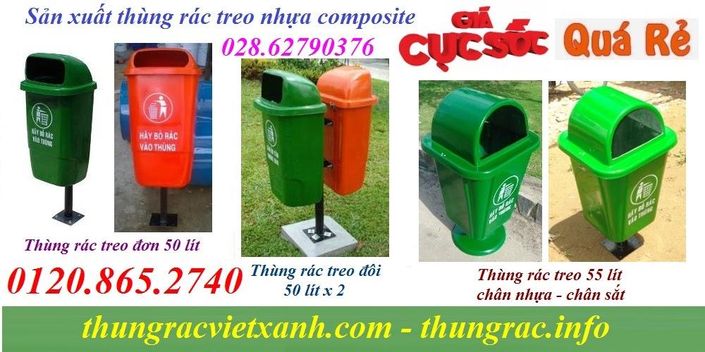 Thùng rác treo nhựa composite