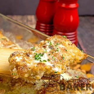 Easy Alfredo Chicken Casserole.