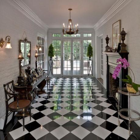 Lựa chọn gạch bóng kiếng lát nền trang trí hành lang