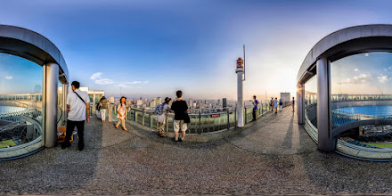 Photo: Photosphere from the top of the Osaka Umeda Sky building