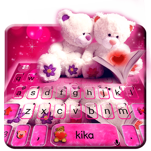 Lovely Teddy Keyboard Theme Icon