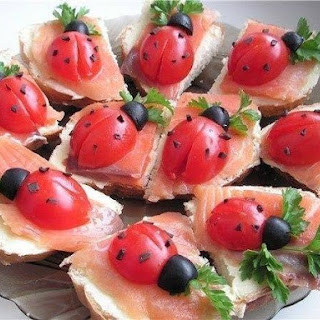 Tomato Ladybugs Fun Appetizer