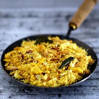 Puttu Ularthiyathu With Chicken and Eggs