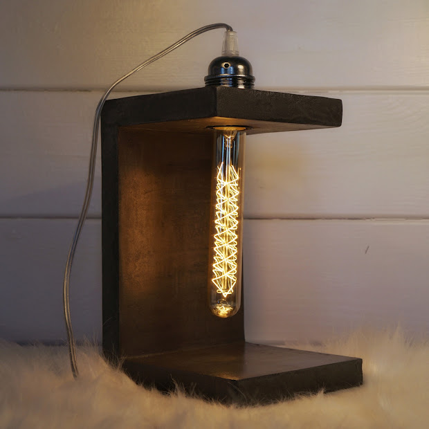 lampe b ton design cr ation par junny lampe b ton objet d co b ton. Black Bedroom Furniture Sets. Home Design Ideas
