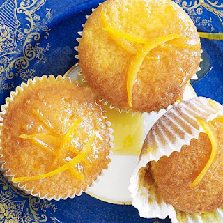 Orange Cupcakes with Burnt Orange Caramel