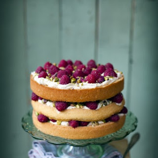 Raspberry, Pistachio and Rose Cake.