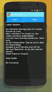 Deutsch Brief Schreiben A2
