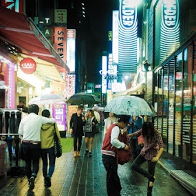 night @ dong dae mun by Andy Yusuf - City,  Street & Park  Street Scenes