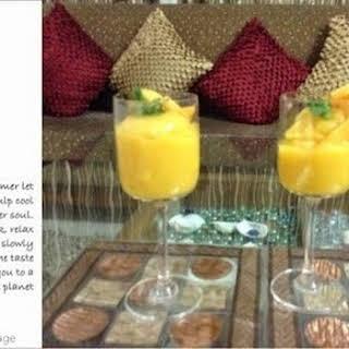 Chilled Mango Dessert.