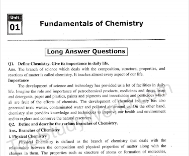 9th Class Chemistry (Complete Notes) 2019 for PC / Windows 7