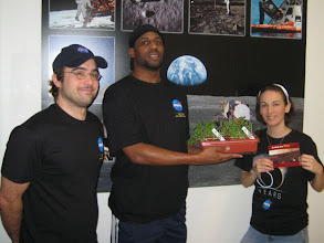 """Photo: Devin, Marcus & Heather... with our """"Space Seeds"""" experiment..."""