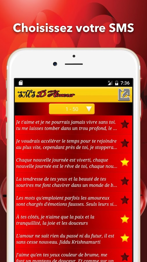 Top SMS D'amour en Français - Android Apps on Google Play VA78