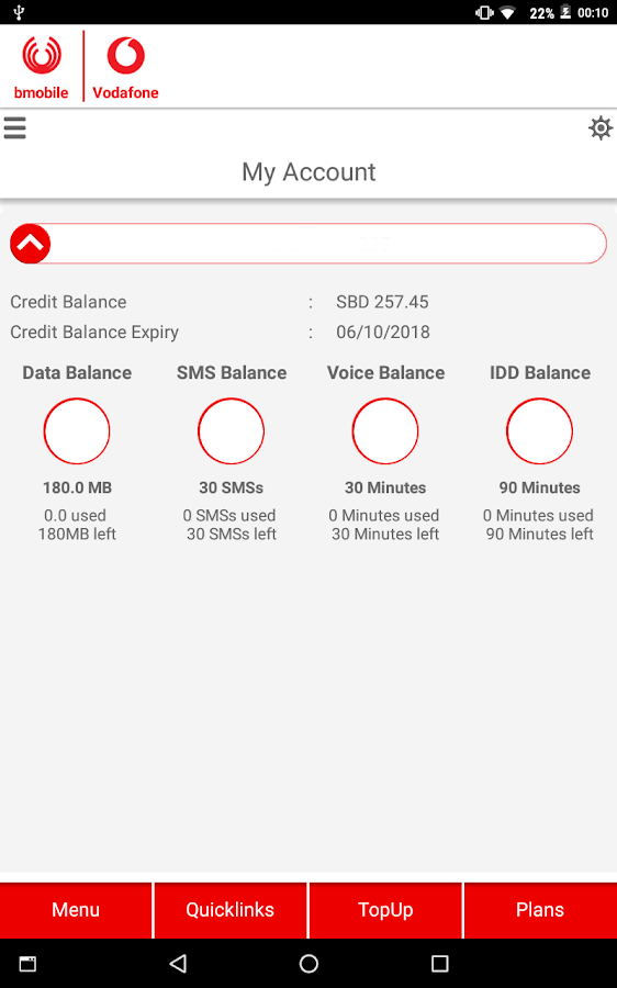 bmobile-Vodafone SI- screenshot
