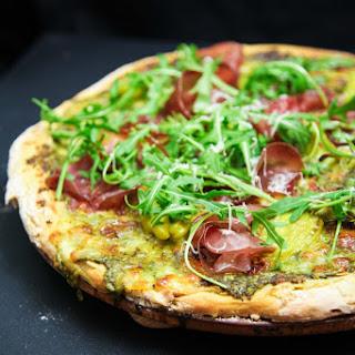 Wild Garlic Pesto Pizza with Bresaola and Arugula Recipe