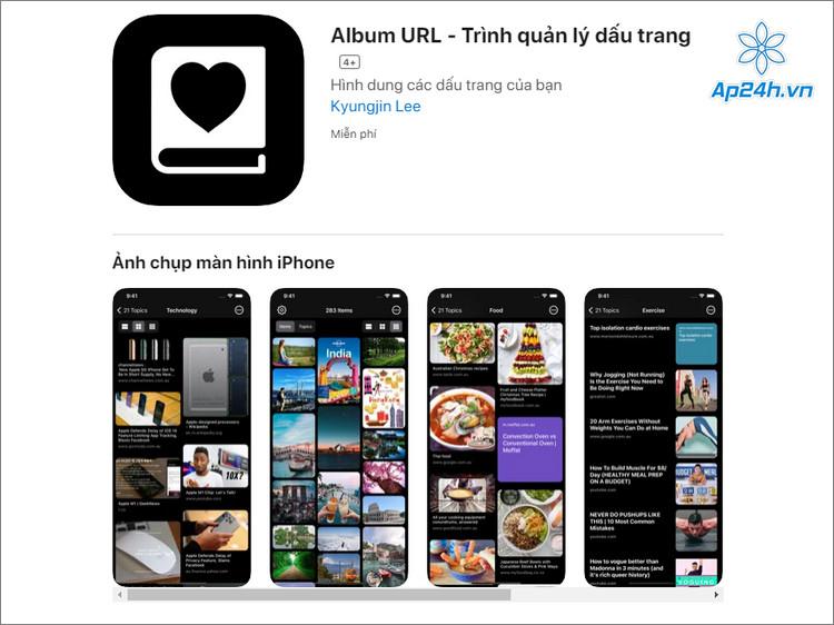 Công cụ quản lý dấu trang trên iPhone