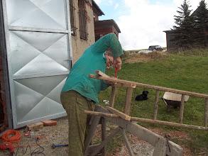 Photo: udělat držák na žebřík