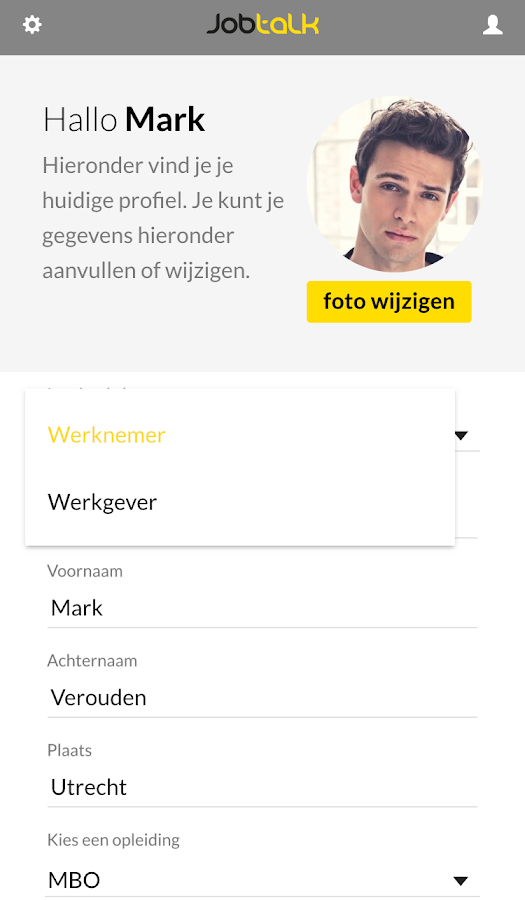 JobTalk … vacatures swipen- screenshot