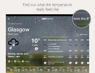 BBC Weather screenshot for Android