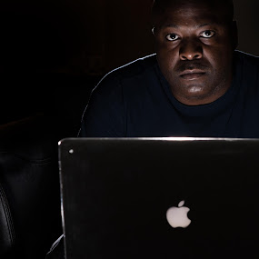Work by Algernon Parker - People Portraits of Men ( work, apple, laptop, man, gary fong, self portrait, selfie )