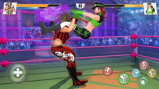 Bad Girls Wrestling Rumble: Women Fighting Games apktram screenshots 3