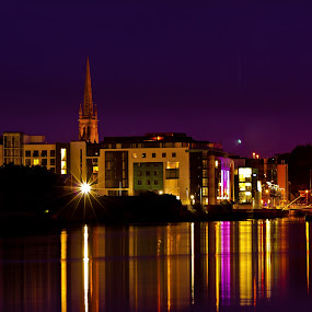 OLD Good Drogheda by Vaidotas Maneikis - City,  Street & Park  Historic Districts ( co.louth, ireland, river boyne, drogheda, eire, night, night shot )